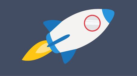 Vector Illustration of a Rocket Stok Fotoğraf - 125536217