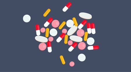 Vector Isolated Illustration of Pills