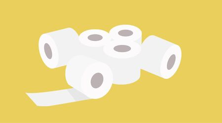 Vector Illustration of Toilet paper