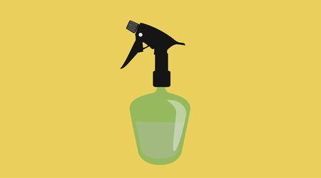 Isolated Vector Illustration of a Hairdresser Spray Bottle