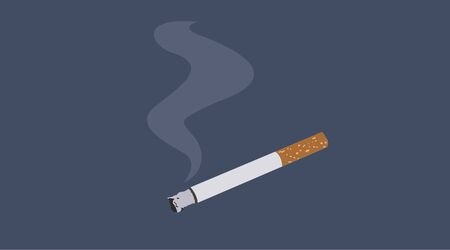 Vector Illustration of a Cigarette