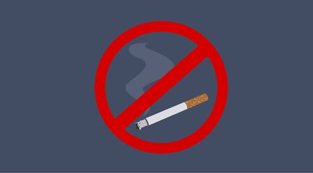 Vector Illustration of a Forbidden Cigarette Sign Ilustrace