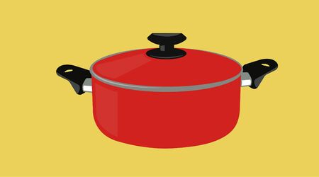 Isolated Vector Illustration of a Cooking Pot