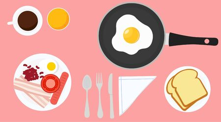 Vector Illustration of a Breakfast