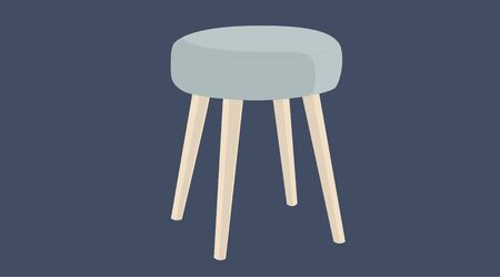Isolated Vector Illustration of a stool