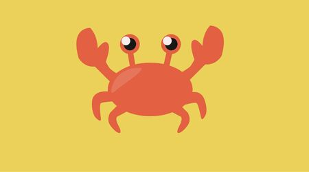 Isolated Vector Illustration of a Crab  イラスト・ベクター素材