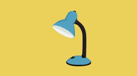 Isolated Vector Illustration of a Desk Lamp