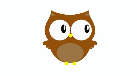 Isolated Vector Illustration of a Childish Style Owl