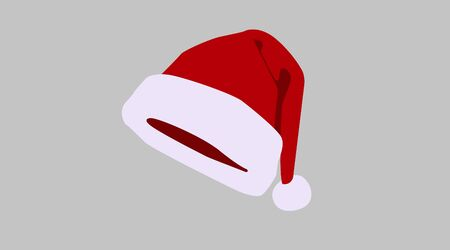 Vector Isolated Illustration of a Santa Claus Christmas Hat