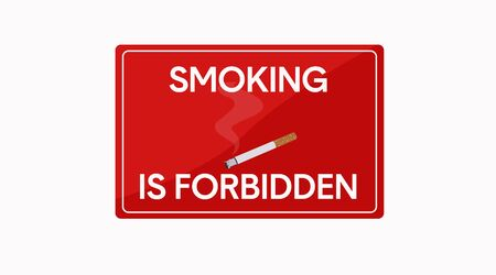 Red Vector Isolated Smoking is Forbidden Sign Icon
