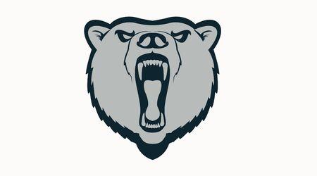 Bear Logo Mascot, Vector Isolated Illustration