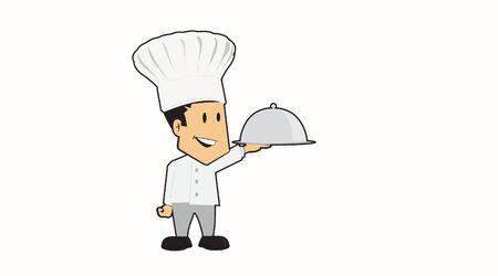 Vector Isolated Cartoon Chef Illustration Illustration