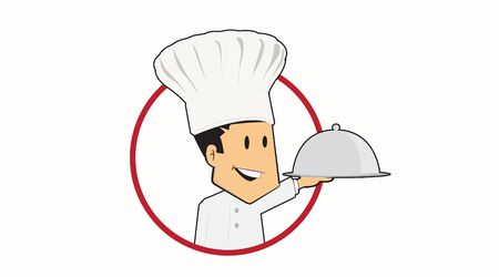 Vector Isolated Illustration or Icon of a Chef Foto de archivo - 140004937