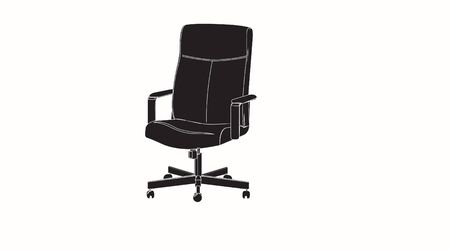 Vector Black and White Isolated Illustration of a Gamer or Office Chair. Silhouette Ilustracja