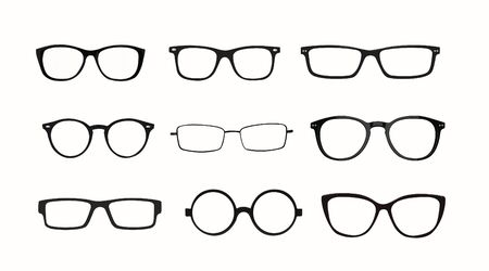 Vector Isolated Set of Different Glasses