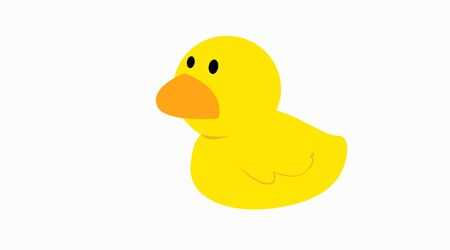 Vector Isolated Illustration of a Rubber Duck. Yellow Duck Toy