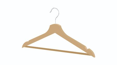 Vector Isolated Illustration of a Wood Hanger