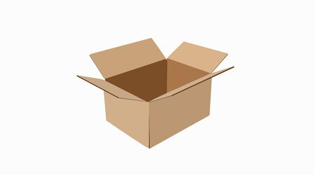 Carton delivery packaging, Box. Vector Isolated Illustration
