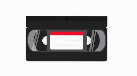 Vector Isolated Illustration of a Videocassette. VHS Tape
