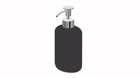 Vector Isolated Illustration of a Soap Dispenser Çizim