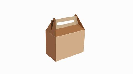 Vector Isolated Illustration of a Take Away Box