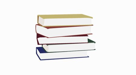 Vector illustration Isolated of a Pile of Books Stock Illustratie