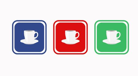 Vector Isolated Illustration of a Coffee Icon or Signs