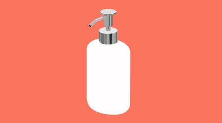 Vector Isolated Illustration of a Soap or Gel Dispenser Çizim