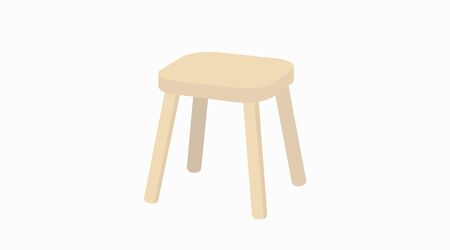 Vector Isolated Illustration of a Wooden Stool