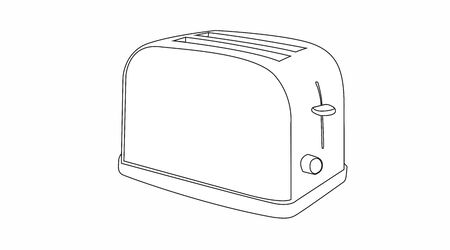 Vector Isolated Black and White Illustration of a Toaster Vector Illustratie