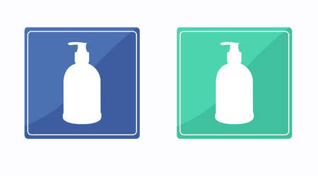Vector Isolated Hydroalcoholic Gel Bottles Set of Icons