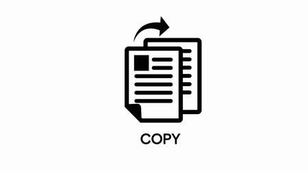 Vector Isolated Illustration of a Copy Icon. Papers Icon Vecteurs