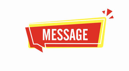 Banner Illustration. Vector isolated illustration of a Bnner with a Message