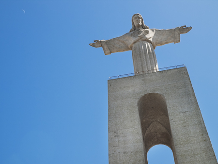 Huge Statue of Christ King, in Lisbon, Portugal photo