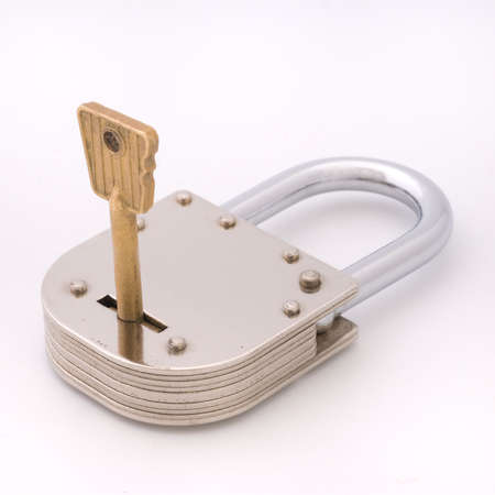 Old Style Padlock and Key