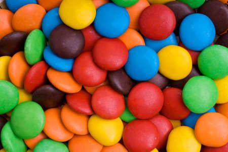 obesidad infantil: Dulces de chocolate Antecedentes Foto de archivo