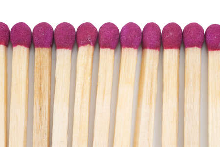 close p: Matches Closeup Isolated on White Background