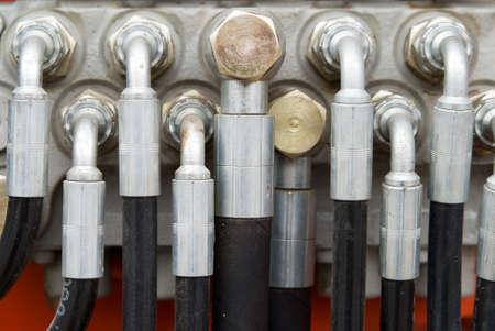 Hydraulic Tubes on Heavy Weight Machinery photo