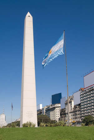 corrientes: The Obelisk a major touristic destination in Buenos Aires, Argentina