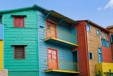 """colourful houses: Casas de colores en """"Caminito"""" - La Boca, Buenos Aires, Argentina  Foto de archivo"""