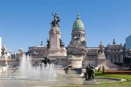 flag of argentina: El Congreso Nacional en Buenos Aires, Argentina