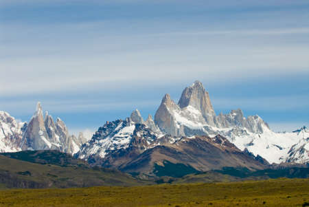los glaciares: Fitz Roy Mount, Los Glaciares National Park Stock Photo