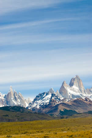 glaciares: Fitz Roy Mount, Los Glaciares National Park Stock Photo