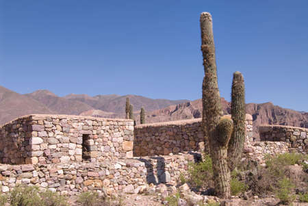 fortified: Ancient Fortified Citadel in Tilcara, Northern Argentina