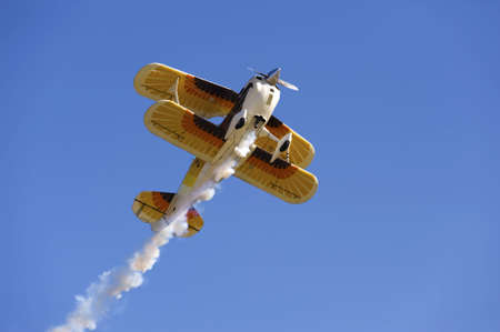 Acrobatic Plane in Flight