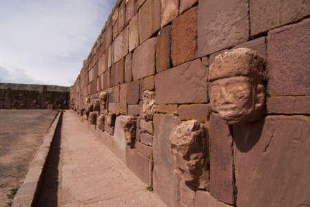 declared: Semi-sotterraneo Tempio di Tiwanaku, in Bolivia. Dichiarato Patrimonio Mondiale dell'UNESCO del sito Archivio Fotografico