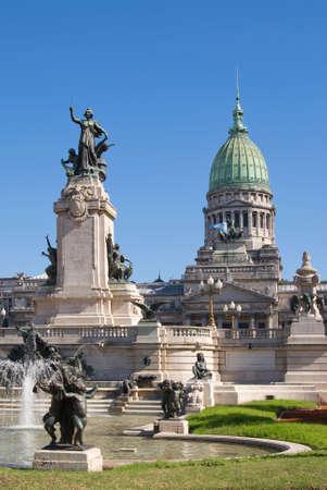 argentina bandera: El Congreso Nacional en Buenos Aires, Argentina