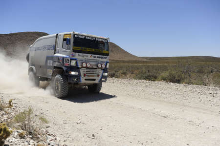 MENDOZA, ARGENTINA - JANUARY 15 2010 - A 4x4 Truck in the Rally DAKAR Argentina - Chile 2010