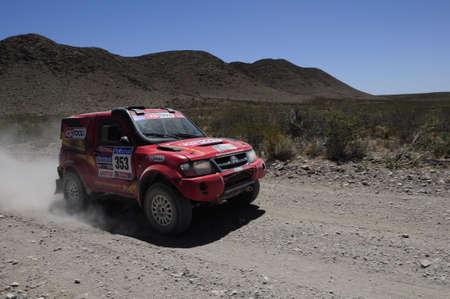 MENDOZA, ARGENTINA - JANUARY 15 2010 - A 4x4 Vehicle in the Rally DAKAR Argentina - Chile 2010