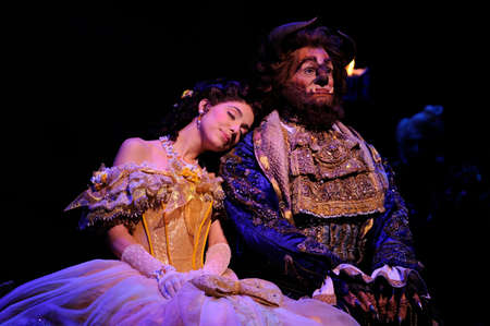 beast: BUENOS AIRES, ARGENTINA - MARCH 26: Opening of Disney Musical The Beauty and the Beast in Opera Theater. March 26, 2010 in Buenos Aires, Argentina
